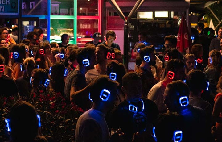 Silent Disco Open Air Party mit Silent Disco Kopfhörern von Kopfhörer Events Deutschland