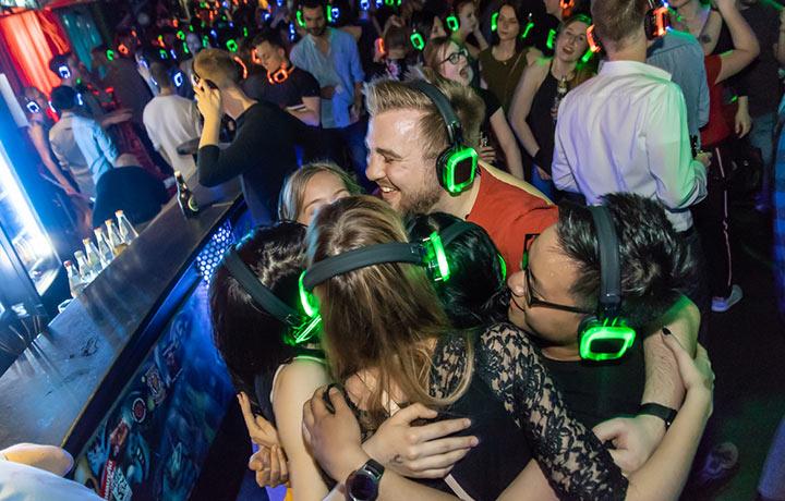 Silent Disco Party mit Silent Kopfhörern