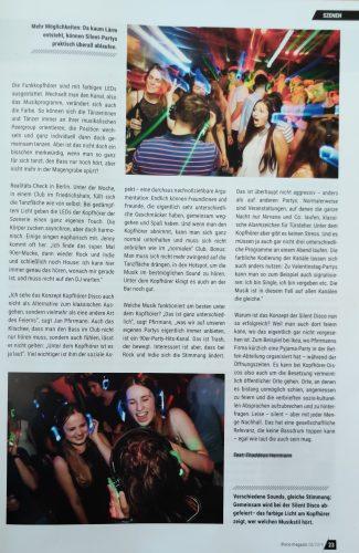 Disco Magazin Beitrag über das Konzept Silent Disco und die Firma Kopfhörer Events Deutschland - Seite 2