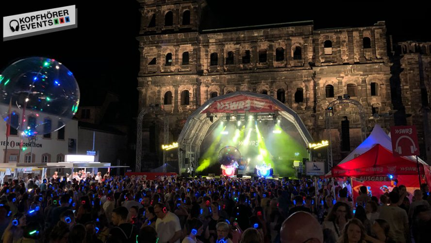 Silent Disco mit Silent Disco Kopfhörern auf dem Altstadtfest Trier