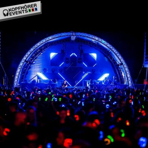 Silent Disco Bühne auf dem Electronic Wine Festival in Koblenz