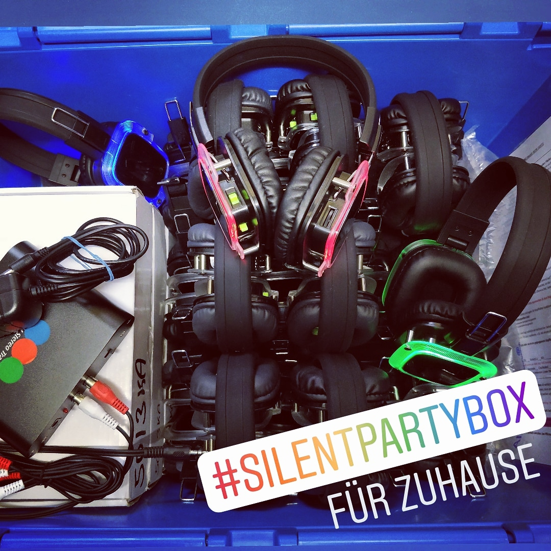 Silent Disco Kopfhörer Party Box für Zuhause