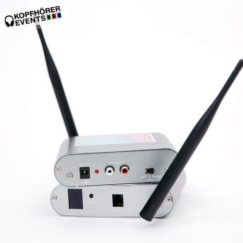 Silent Disco Sender Transmitter SUP mit Color-Keyboard Anschluss