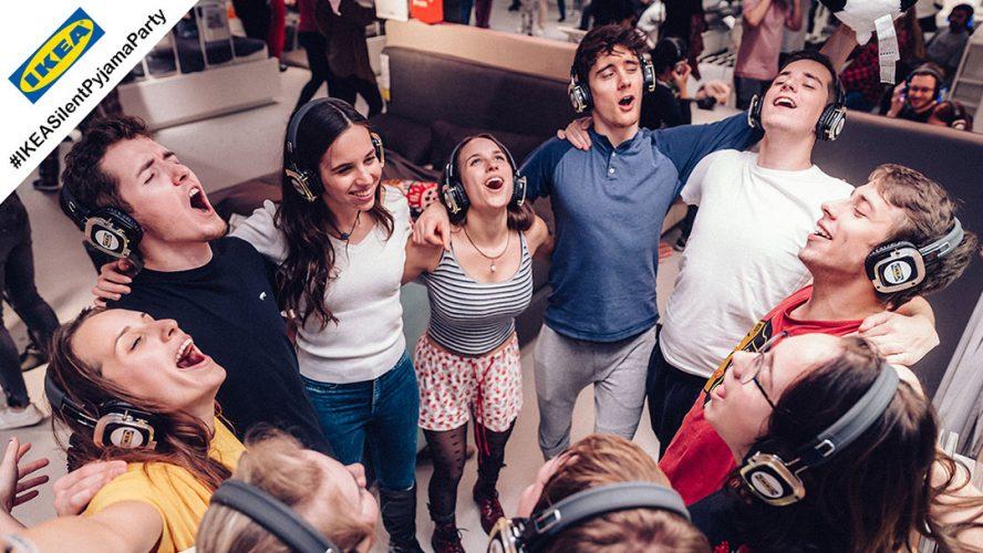IKEA Silent Pyjama Party mit Silent Kopfhörern von Kopfhörer Events