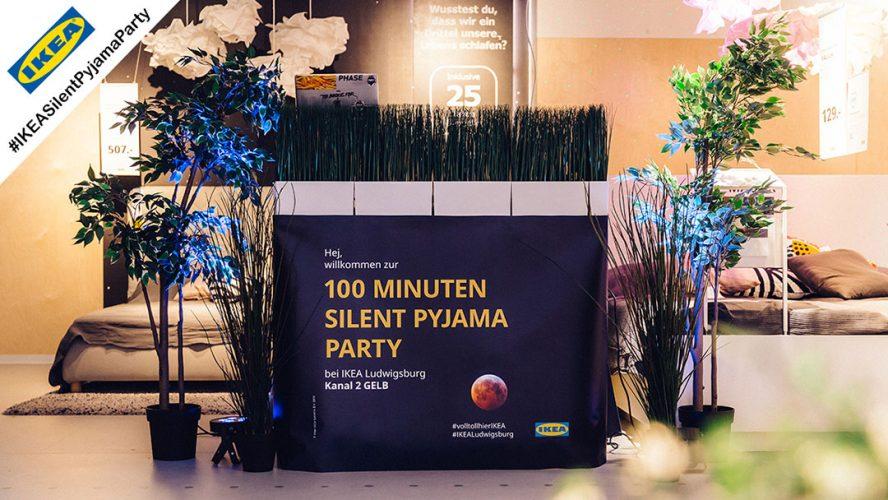 IKEA Silent Pyjama Party mit Silent Disco Kopfhörern von Kopfhörer Events Deutschland