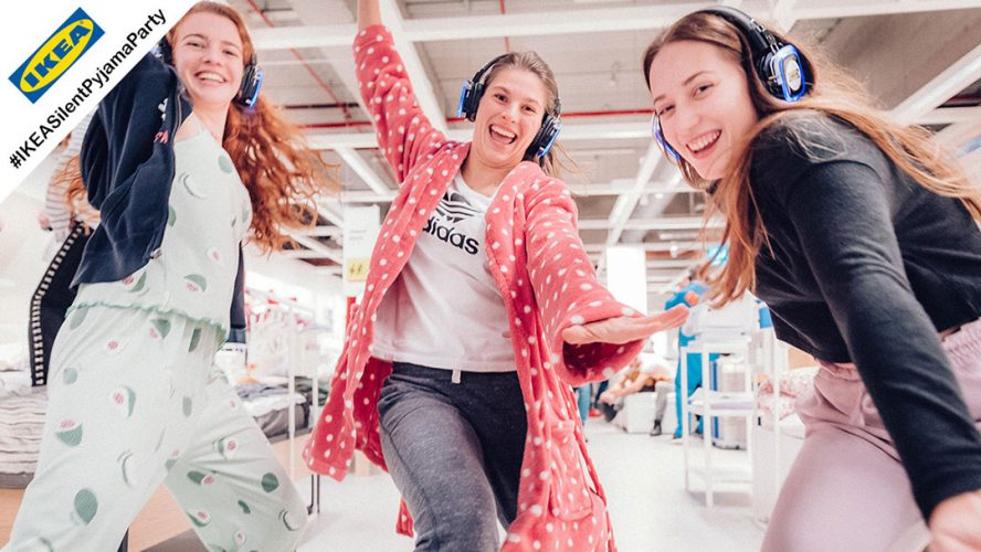 silent pyjama party bei ikea