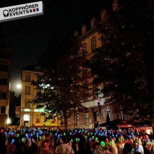 Open Air Event mit Silent Disco Kopfhörern von Kopfhörer Events Deutschland