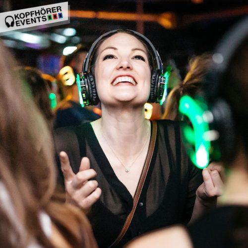Silent Disco Party mit Silent Disco Kopfhörern von Kopfhörer Events Deutschland