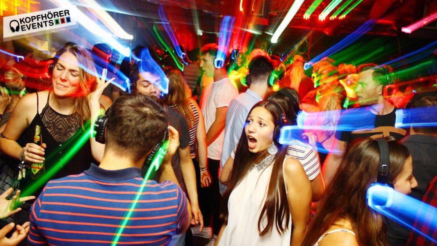 Silent Disco mit Silent Disco Kopfhörern von Kopfhörer Events Deutschland