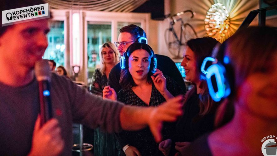 Silent Kopfhörer von Kopfhörer Events bei einem Hip Hop Kitchen Event