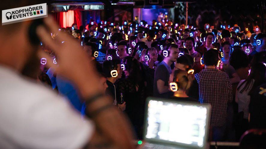 Silent Party in Stuttgart mit Silent Disco Kopfhörern von Kopfhörer Events Deutschland