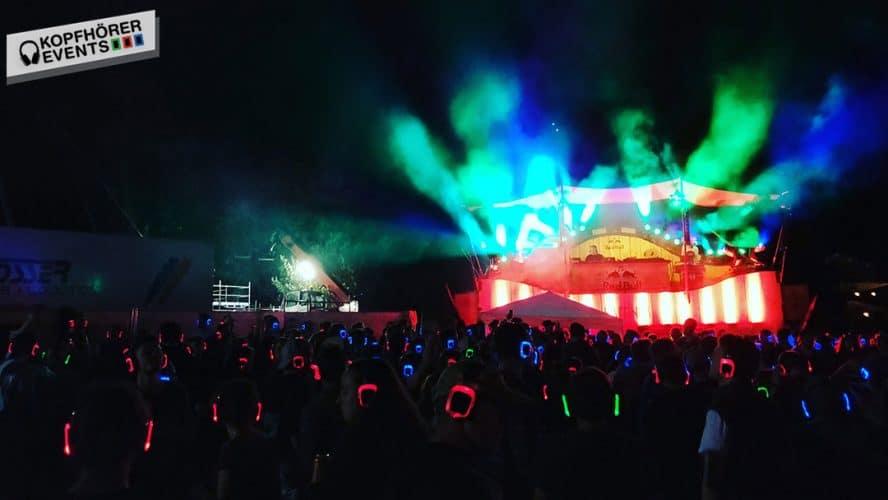 Silent Disco Kopfhörer von Kopfhörer Events Deutschland bei einem Festival