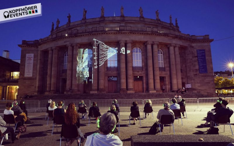 Silent Kopfhörer von Kopfhörer Events Deutschland bei einer Open Air Veranstaltung