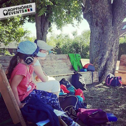 Silent Kopfhörer von Kopfhörer Events Deutschland bei einer Kinderfreizeit