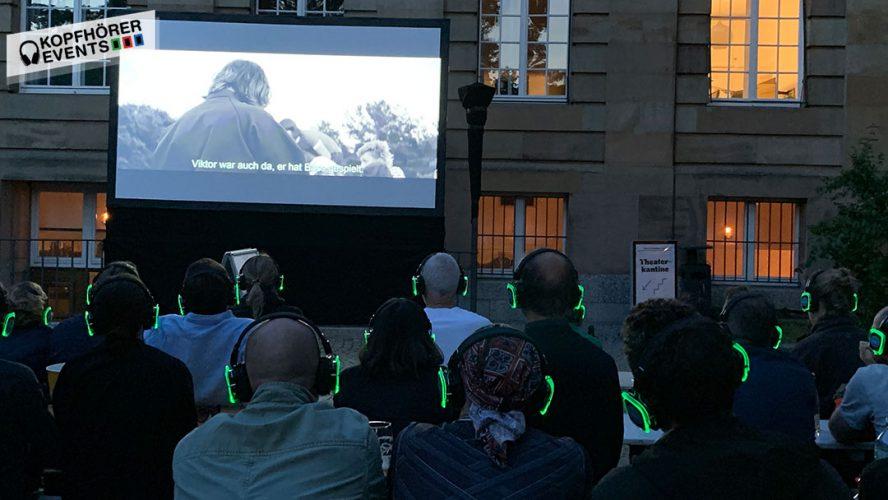 Silent Cinema mit Silent Disco Kopfhörern von Kopfhörer Events Deutschland
